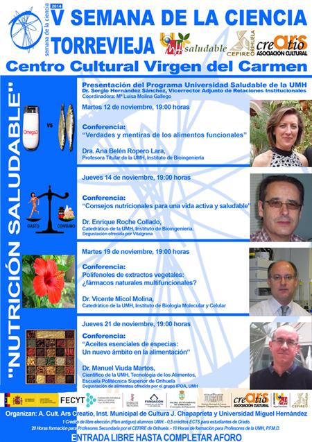 Cartel V Semana de la Ciencia, 2013